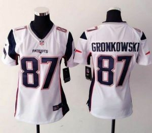 New England Patriots Rob Gronkowski Nike White Limited Jerseys